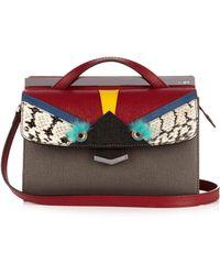 Fendi | Demi Jour Bag Bugs Small Leather Crossbody Bag | Lyst