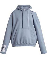 Vetements - Hooded Open-shoulder Sweatshirt - Lyst