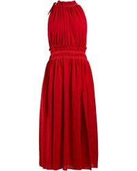 Altuzarra - Vivienne Gathered Cotton Dress - Lyst