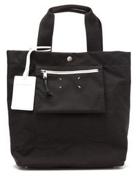 Maison Margiela - Stereotype Reversible Black Canvas Tote - Lyst
