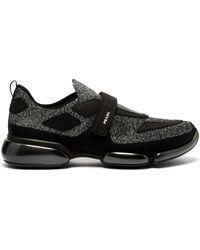Prada - Cloudbust Glitter Low Top Mesh Sneakers - Lyst