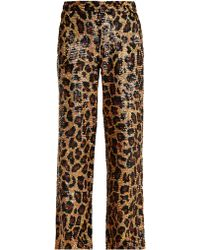 Ashish - Leopard Sequin Embellished Cotton Trousers - Lyst