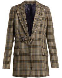 JOSEPH - Gemina Single Breasted Checked Wool Blazer - Lyst