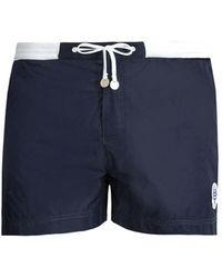 Robinson Les Bains - Wimbledon Contrast Waist Swim Shorts - Lyst