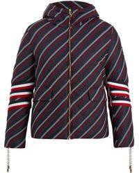 Moncler Gamme Bleu   Strap-detail Embroidered Down Coat   Lyst