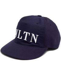 Valentino - Logo Embroidered Canvas Cap - Lyst
