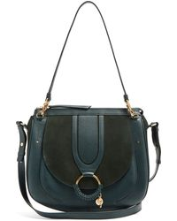 See By Chloé - Hana Suede And Leather Satchel Cross-body Bag - Lyst