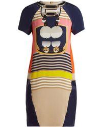 Mary Katrantzou - Graphic Print Crepe Mini Dress - Lyst