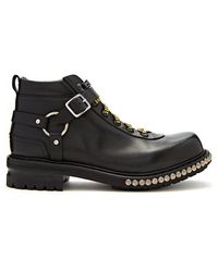 Alexander McQueen - Harness Leather Hiking Boots - Lyst