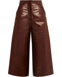 By. Bonnie Young | High-rise Leather Culottes | Lyst