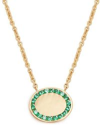Jessica Biales - Candy Emerald & Yellow-gold Necklace - Lyst