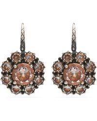 Bottega Veneta - Cubic-zirconia Sterling-silver Earrings - Lyst