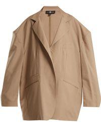 Edward Crutchley - Oversized Notch Lapel Wool Blend Blazer - Lyst