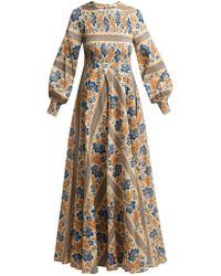 Zimmermann - Castile Smocked Cotton Dress - Lyst