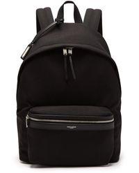Saint Laurent - City Canvas Backpack - Lyst