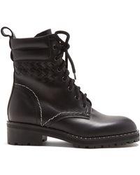 Bottega Veneta - Chain Embellished Leather Ankle Boots - Lyst