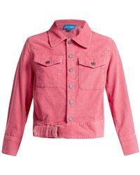M.i.h Jeans - Paradise Cropped Corduroy Jacket - Lyst