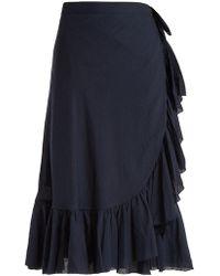 Loup Charmant - Ruffled Cotton Wrap Skirt - Lyst
