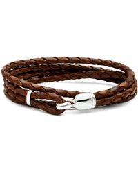Miansai - Trice Braided-leather Bracelet - Lyst