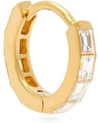 Maria Tash - 8mm 18-karat Gold Diamond Hoop Earring - Lyst