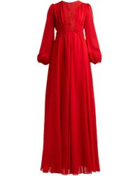 Giambattista Valli - Macramé Lace And Crepe Gown - Lyst
