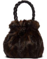 STAUD - Grace Faux Mink Top-handle Bag - Lyst