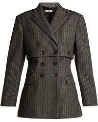 Altuzarra - Millett Pinstripe Virgin Wool Blend Jacket - Lyst