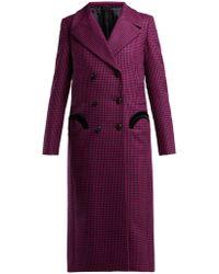 Blazé Milano Fair & Square Checked Wool Coat