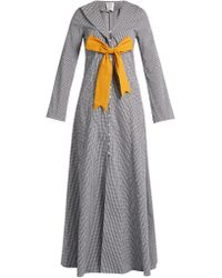 Rosie Assoulin   Seeker Detachable-bow Gingham Coat   Lyst