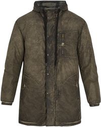 Tomas Maier - Bleached-effect Hooded Coat - Lyst