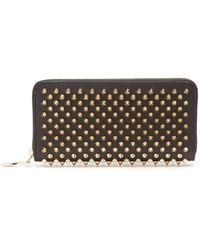 Christian Louboutin - Panettone Spike Embellished Leather Wallet - Lyst