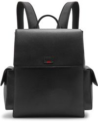 Gucci - Grained Leather Backpack - Lyst