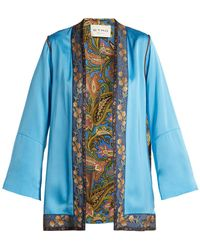 Etro - Agate Floral-brocade Satin Jacket - Lyst