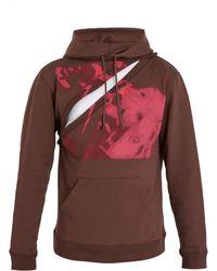 Raf Simons - Sweat-shirt en jersey peint à capuche et découpe - Lyst
