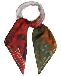 Mary McCartney - Profile On Red Print Silk Scarf - Lyst