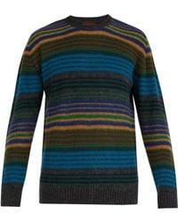 Altea - Striped Wool Blend Jumper - Lyst
