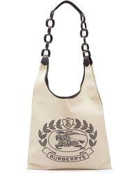 Burberry - Crest Print Canvas Shopper Tote - Lyst