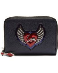 Christian Louboutin - Panettone Heart Embellished Leather Coin Purse - Lyst