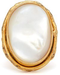 Sylvia Toledano - Mother Of Pearl And Brass Ring - Lyst