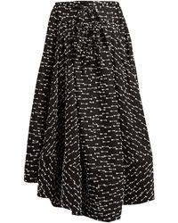 Rosie Assoulin - Full A Line Gazar Skirt - Lyst