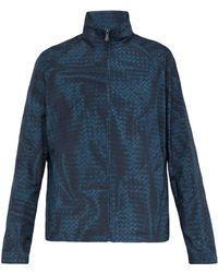 Bottega Veneta Intrecciato Print Nylon Jacket - Blue