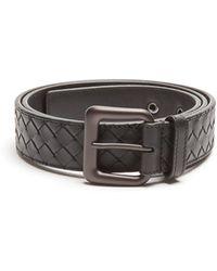 Bottega Veneta - Intrecciato Leather 3.5cm Belt - Lyst