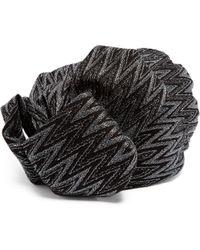 Missoni - Zigzag Metallic Crochet Knit Turban Hat - Lyst