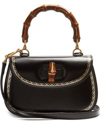 Gucci - Bamboo-handle Leather Bag - Lyst