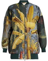 Adam Lippes | Eden-print Jacquard Bomber Jacket | Lyst