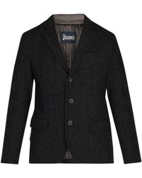 Herno - Single Breasted Wool Blend Jacket - Lyst
