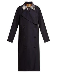 Burberry - Danson Checked-insert Cotton Trench Coat - Lyst