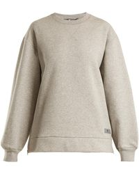 Adidas By Stella McCartney   Crew-neck Cotton-jersey Sweater   Lyst