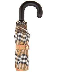 Burberry - Vintage-check Foldable Umbrella - Lyst