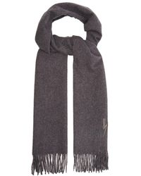 Neil Barrett - Lightning Bolt Embroidered Scarf - Lyst